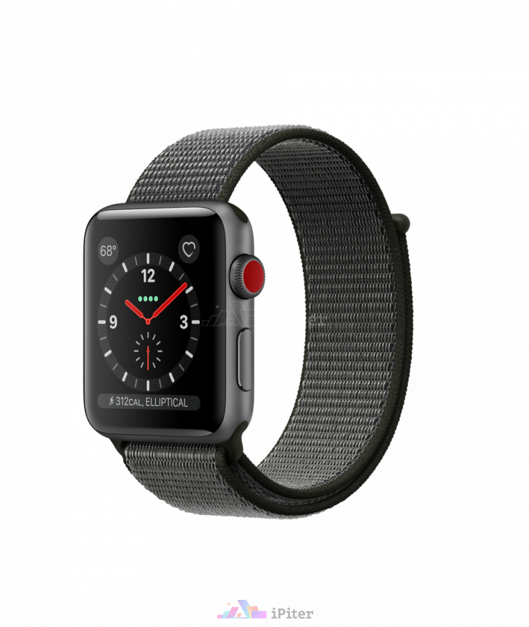Фото Купить Apple Watch Series 3 (MQK62) 42 мм, Space Gray Aluminum Case with Dark Olive Sport Loop