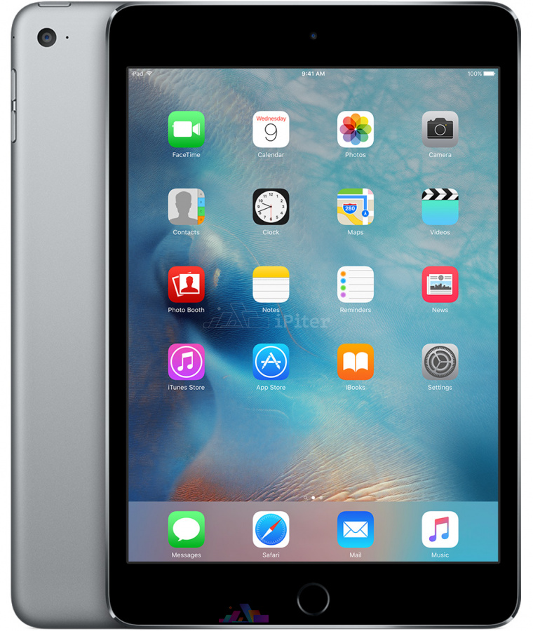 Фото Купить Apple iPad Mini 4 128Gb Wi-Fi + Cellular Space Gray (MK762)