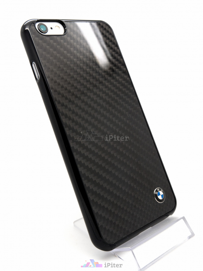 Фото Чехол BMW Real Carbon Fiber для iPhone 6s Plus / 6 Plus, Чёрный