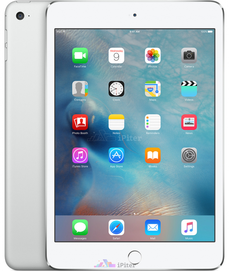 Фото Купить Apple iPad Mini 4 128Gb Wi-Fi Silver (MK9P2)