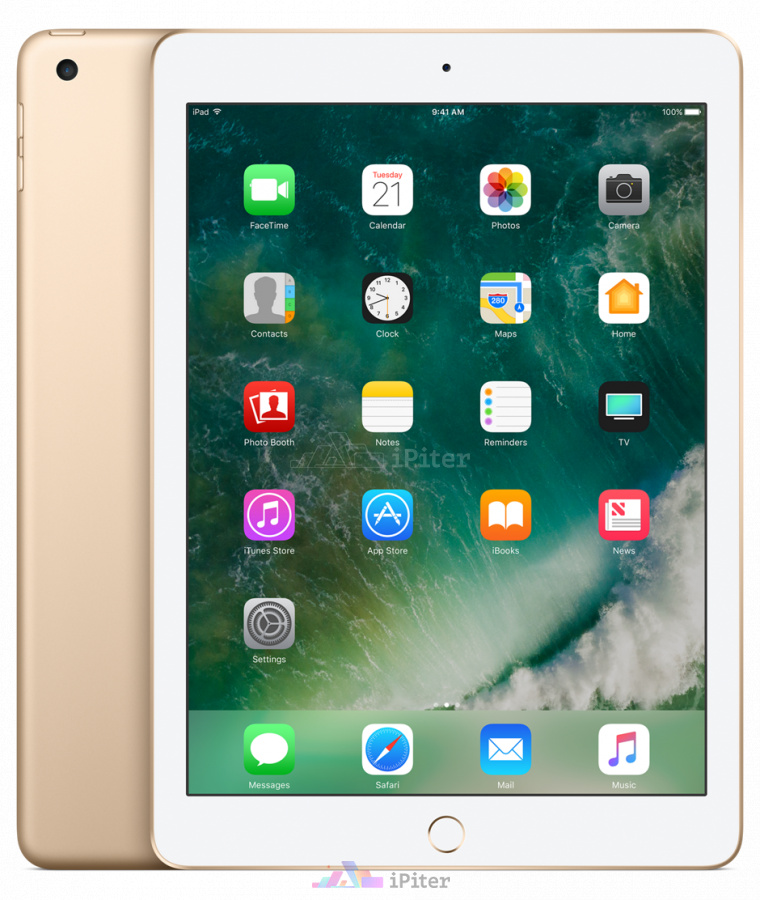 Фото Купить Apple iPad 2017 Wi-Fi 128gb Gold MPGW2