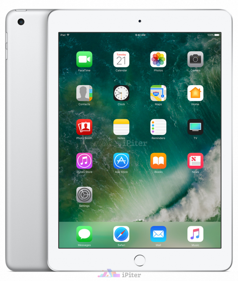 Фото Купить Apple iPad 2017 Wi-Fi + Cellular 128gb Silver MGWM2