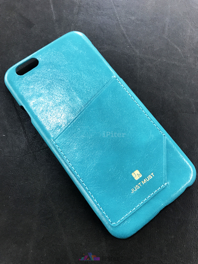 Фото Чехол Just Must Chic для iPhone 6s / 6, Бирюзовый